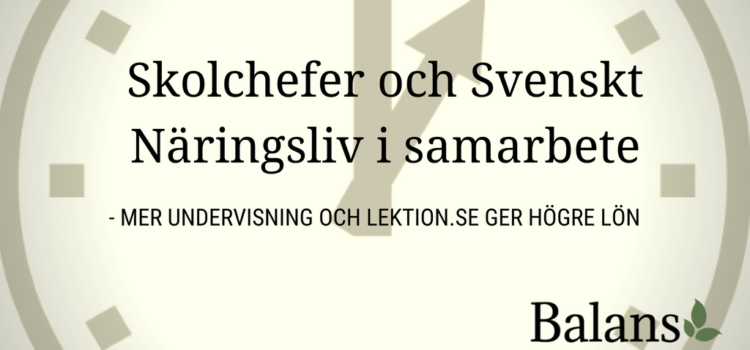 Sveriges skolchefer vill öka lärares undervisningstid – Svenskt Näringsliv hejar på
