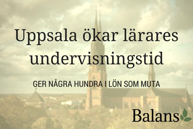 Uppsala gör slag i saken – SPRING SNABBARE!