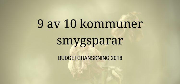 9 av 10 kommuner underfinansierar välfärden 2018