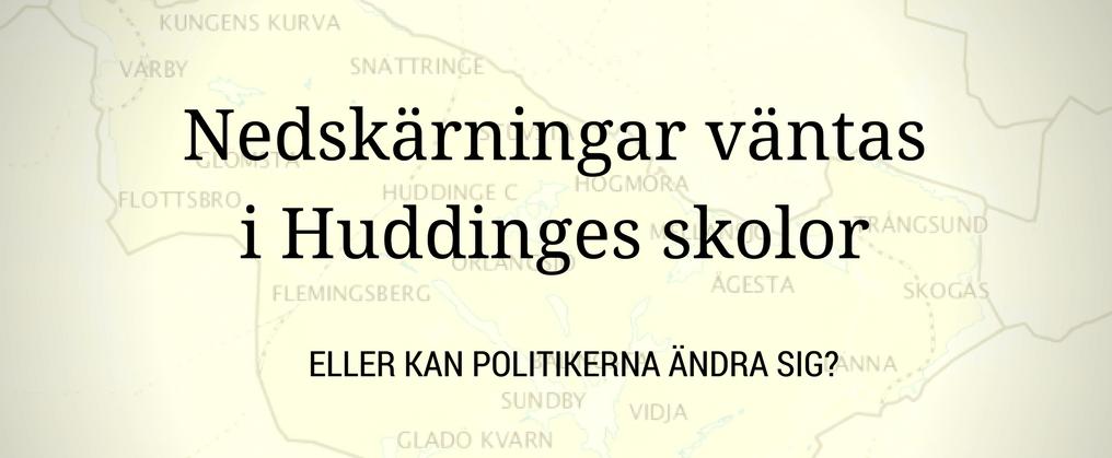 Grundskolan i Huddinge ska spara, spara och spara