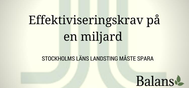 Hälso- och sjukvårdsnämnden i Stockholms landsting ska rekordspara
