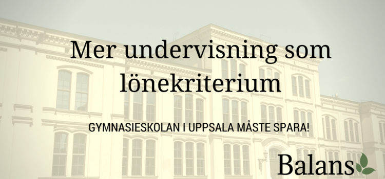 Sparkrav leder till mer undervisning för gymnasielärare i Uppsala