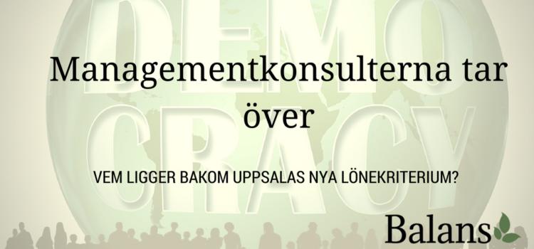 Managementkonsulter – Välfärdens nya makthavare