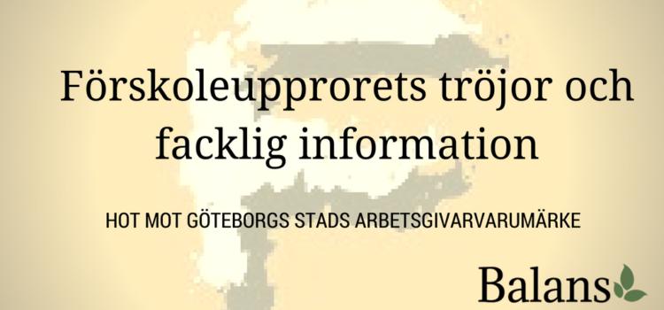 Göteborg stad väljer arbetsgivarvarumärke framför yttrandefrihet