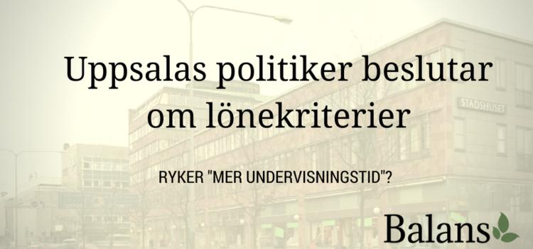 Upp till bevis i Uppsalas utbildningsnämnd