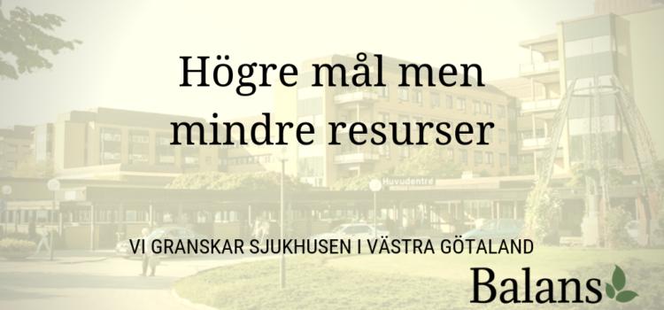 Sjukhusen i Västra Götalandsregionen måste spara – mer att göra för medarbetarna