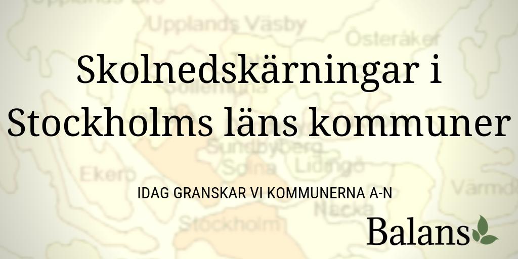 Det ekonomiska läget i Stockholmkommunernas förskolor och skolor