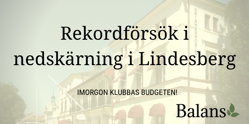 Lindesberg slår nytt svenskt rekord i besparingar?