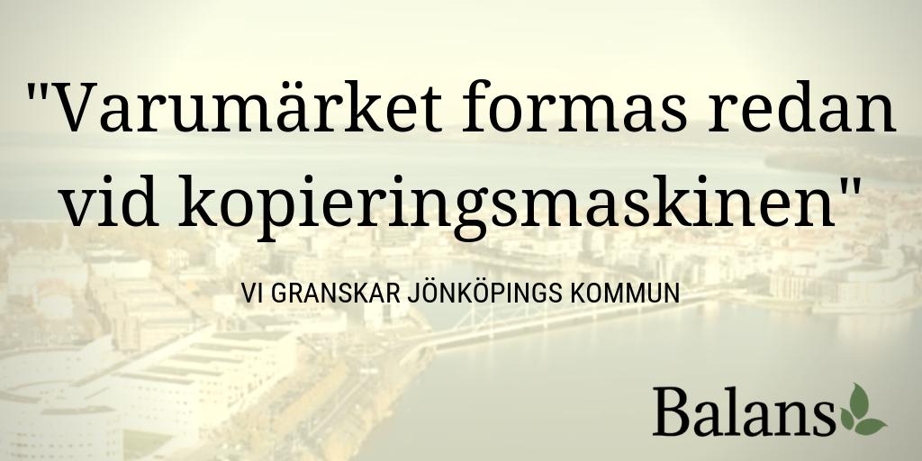 Vi granskar kommunernas varumärkesbyggande – Del 1. Jönköping