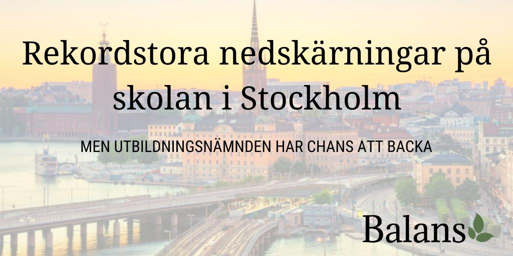 Så stora blir nedskärningarna i Stockholm – om inte politikerna tvingas backa!