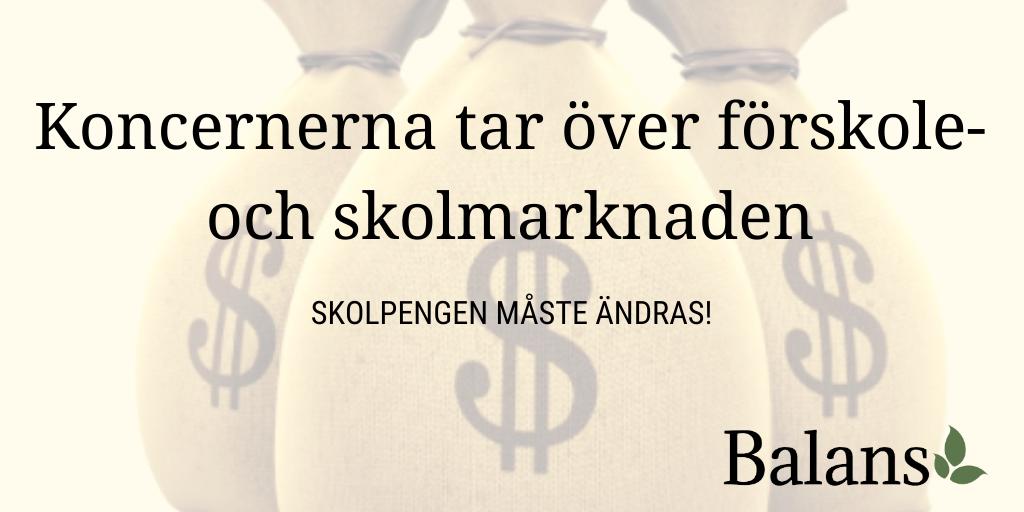 Den svenska skolmarknaden – ett paradis för vinstdrivande koncerner