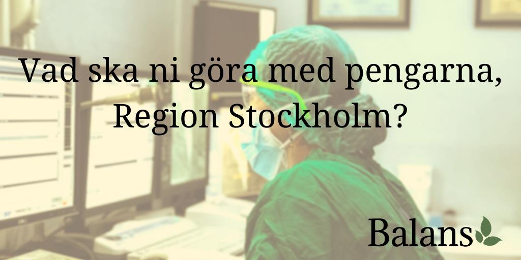Vad håller region Stockholm på med? En jämförelse mellan karta, verklighet och retorik.