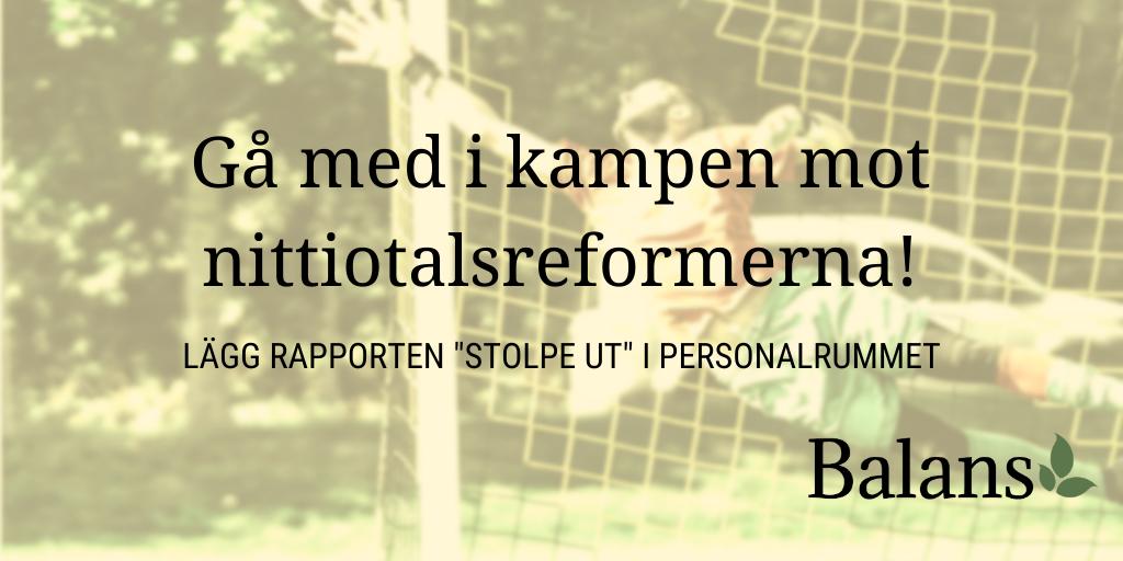 Beställ och sprid vår rapport om skolans nittiotalsreformer!